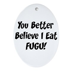 Fugu Oval Ornament