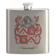 Thrasher Family Crest (Coat of Arms) Flask