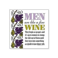 Men Like Fine Wine Sticker