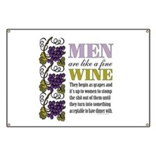 Men Like Fine Wine Banner