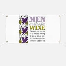 Men Like Fine Wine Banner