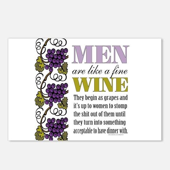 Men Like Fine Wine Postcards (Package of 8)