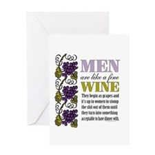 Men Like Fine Wine Greeting Cards