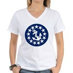 Stars and Anchor Women's V-Neck T-Shirt