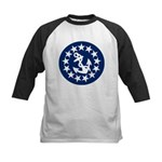 Stars and Anchor Kids Baseball Jersey