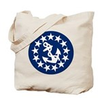 Stars and Anchor Tote Bag