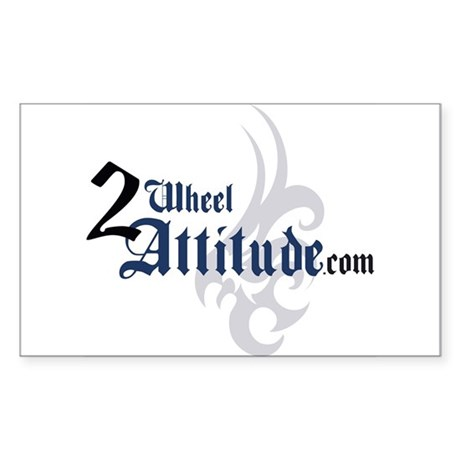 2 Wheel Attitude Rectangle Sticker