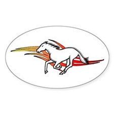 Tattoo Horse Oval Decal