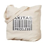Akita Priceless Weathered Barcode Tote Bag