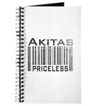 Akita Priceless Weathered Barcode Journal