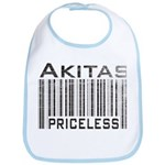 Akita Priceless Weathered Barcode Bib