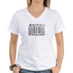 Akita Priceless Weathered Barcode Women's V-Neck T
