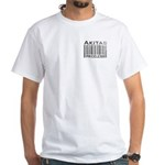 Akita Priceless Weathered Barcode White T-Shirt