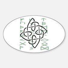 Celtic Graphic Oval Stickers