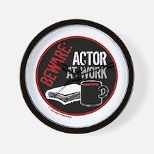 Actor at Work Wall Clock