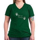 Massage therapist Womens V-Neck T-shirts (Dark)