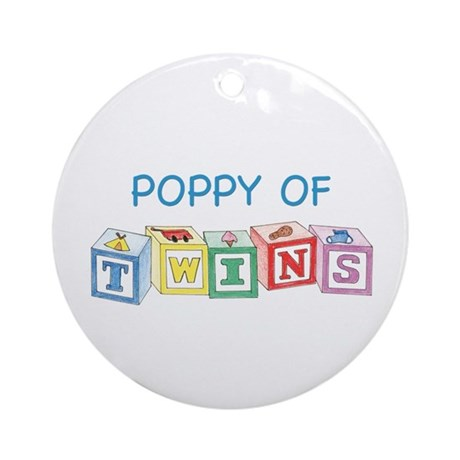 Poppy of Twins Blocks Ornament (Round)