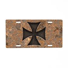 rusty-maltese-T Aluminum License Plate