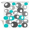 Mid Century Modern Circles 2 QUEEN Shower Curtain