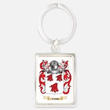 Todd Family Crest (Coat of Arms) Portrait Keychain