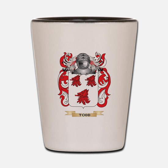 Todd Family Crest (Coat of Arms) Shot Glass