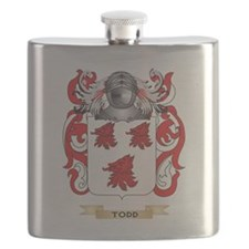 Todd Family Crest (Coat of Arms) Flask