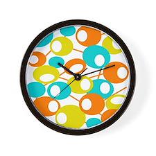 mid century Modern Circles 1 QUEEN Wall Clock