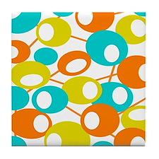 mid century Modern Circles 1 QUEEN Tile Coaster
