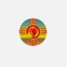 DESERT ZIA LOVE Mini Button