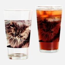 Daisy Cat Drinking Glass