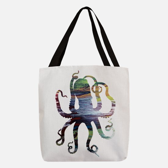 Octopus Polyester Tote Bag