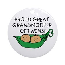 proud great grandmother pod Ornament (Round)