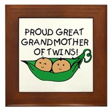 proud great grandmother pod Framed Tile