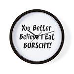 Borscht Wall Clock