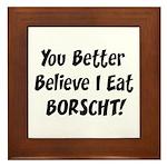 Borscht Framed Tile