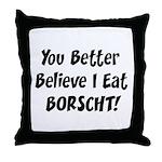 Borscht Throw Pillow