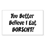 Borscht Rectangle Sticker