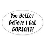 Borscht Oval Sticker