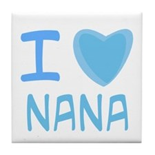 Blue I Heart (Love) Nana Tile Coaster