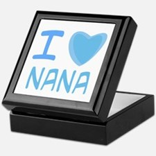 Blue I Heart (Love) Nana Keepsake Box