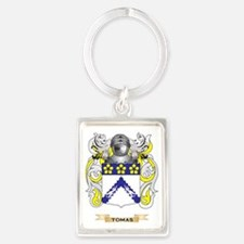 Tomas Family Crest (Coat of Arms Portrait Keychain