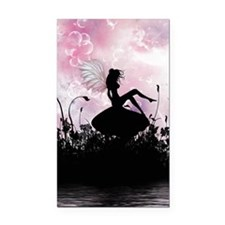 Fairy Silhouette Rectangle Car Magnet