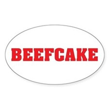 BeefCake Oval Decal