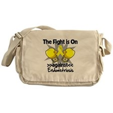 Fight is On Endometriosis Messenger Bag