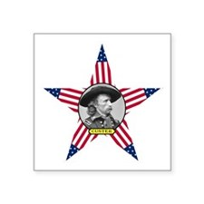 """George Armstrong Custer Square Sticker 3"""" x 3"""""""