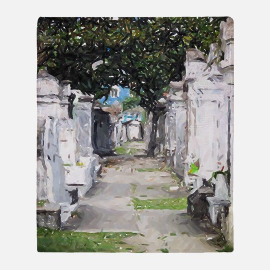 New Orleans Cemetary Throw Blanket