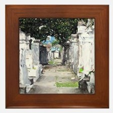New Orleans Cemetary Framed Tile