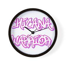 Chicana Warrior Wall Clock