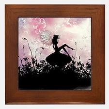 Fairy Silhouette Framed Tile