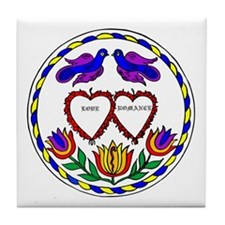 Romance Hex Tile Coaster
